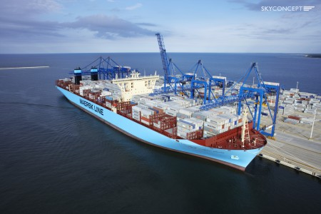 Maersk McKinney Møller w Gdańsku