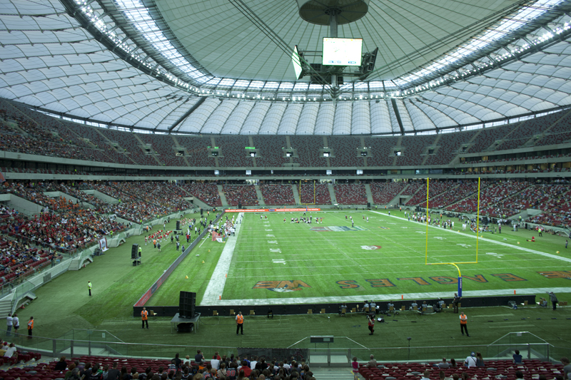 Zdjęcie ze Stadionu Narodowego, wykonane przed SuperFinałem.