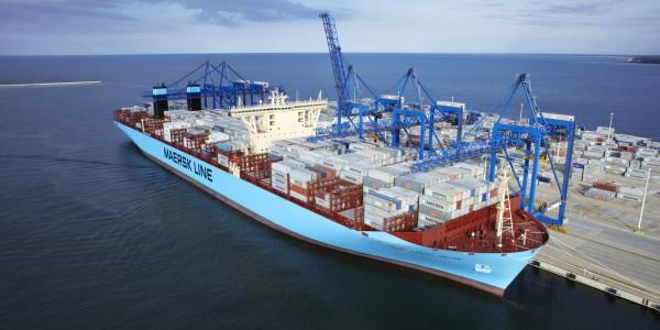 foto 1 – Maersk w DCT Gdańsk