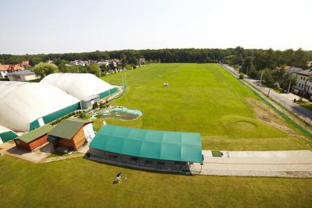 Warszawska strzelnica golfowa z perspektywy lotniczej
