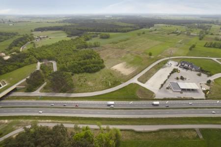 Warsaw Logistics Centre z perspektywy lotniczej