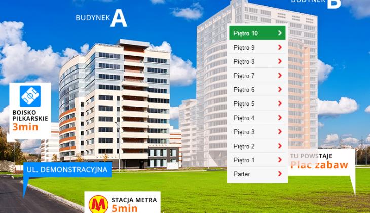 Możliwość podlinkowania całych budynków lub poszczególnych kondygnacji