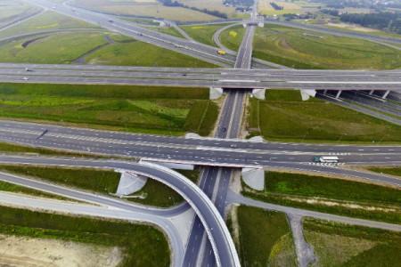 Węzeł Sośnica w panoramie 360