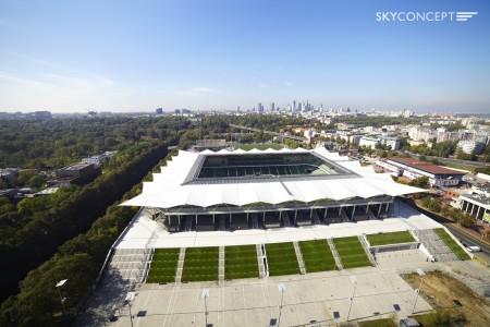 Stadion Legii Warszawa z lotu ptaka